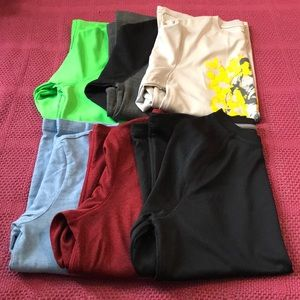 6 long sleeved boys shirts.